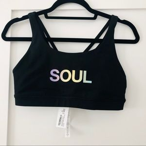 NWT SoulCycle Lululemon black $68 energy bra 8